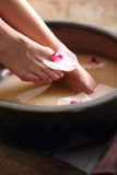 Home foot care Stock Photography