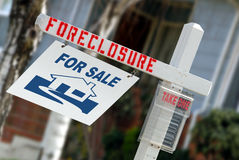 Home Forclosure Sign Royalty Free Stock Photography