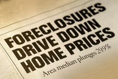 Home Foreclosure Headline Royalty Free Stock Photos