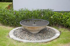 Home fountain. In home garden Stock Photos