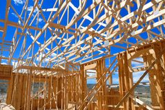 Home framing. New home framing in Colorado Royalty Free Stock Image