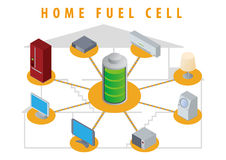 Home Fuel Cell image illustration Royalty Free Stock Photography