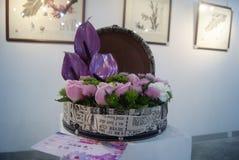 Home Furnishing Flower Exhibition Stock Photo