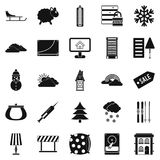 Home furnishing icons set, simple style. Home furnishing icons set. Simple set of 25 home furnishing vector icons for web isolated on white background Stock Image