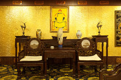 Home furnishings. Classical Chinese style home furnishings Stock Images
