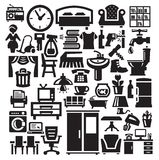 Home furniture and appliances icons Stock Image