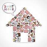 Home furniture card Stock Photo