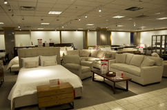 Home furniture department store. A store selling beds, sofa and other home furniture Stock Photos