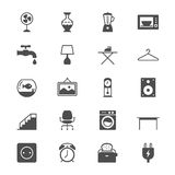 Home furniture flat icons Stock Photography