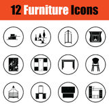 Home furniture icon set Royalty Free Stock Photo
