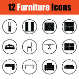 Home furniture icon set Stock Images