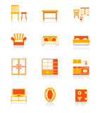 Home furniture icons | JUICY series royalty free illustration