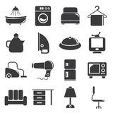 Home and furniture icons Royalty Free Stock Images