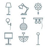 Home Furniture Icons Set Royalty Free Stock Images