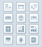 Home furniture icons | TECH series Royalty Free Stock Image