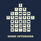Home furniture, illustrations concept design set, vector Stock Photography
