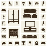 Home furniture, illustrations concept design set, vector Stock Images