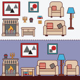 Home furniture. Interior design. Royalty Free Stock Photo