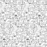 Home Furniture Seamless Pattern Royalty Free Stock Images