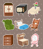 Home furniture stickers. Cute cartoon vector illusttration Stock Photography