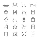 Home furniture thin icons Royalty Free Stock Photography