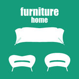 Home furniture, vector.House qequipment Royalty Free Stock Images