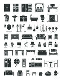 Home furniture vector icons Stock Photos