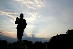 home går solnedgången royaltyfria foton