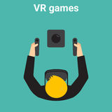 Home gaming in virtual reality Stock Images