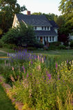 Home and garden. A flower garden near an old Midwestern home Stock Photography