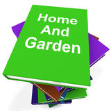 Home And Garden Book Stack Shows Books Royalty Free Stock Images