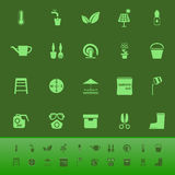 Home garden color icons on green backgroundai Royalty Free Stock Photos