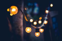 Decoration With the lights. Home and garden decoration With the lights royalty free stock photo