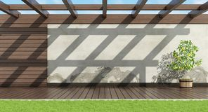 Home garden without furniture Royalty Free Stock Image
