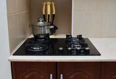 Home gas stove Stock Photography