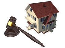 Home and gavel isolated Royalty Free Stock Photo