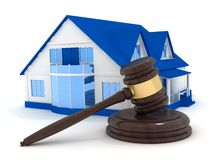 Home and gavel Stock Photography