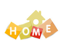 Home geometric banner design Royalty Free Stock Image
