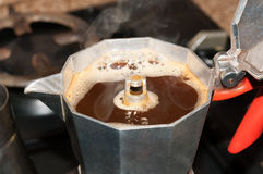 Home geyser coffee Royalty Free Stock Photography
