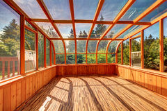 Home glass greenhouse Royalty Free Stock Photo