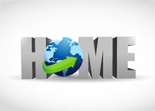 Home globe illustration design Royalty Free Stock Photography