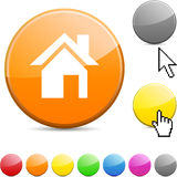 Home Glossy Button. Stock Image