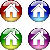 Home glossy button icon Stock Photography