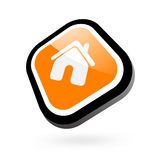 Home glossy Icon Stock Image