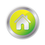 Home glossy Icon Royalty Free Stock Photo