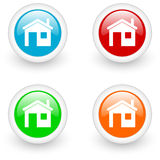Home glossy icon Royalty Free Stock Photography