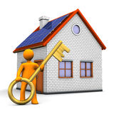 Home Golden Key Stock Image