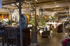 Home goods furniture store. Store selling luxurious home goods and furniture Stock Images