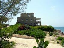 HOME grande do estilo do castelo no caimão grande Imagem de Stock Royalty Free