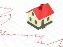 Home with graph Stock Image